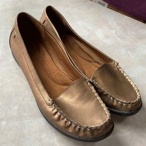Bronze Flat Loafers